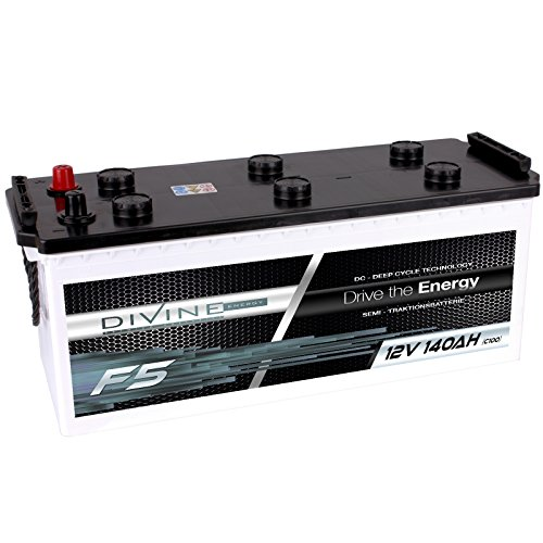 Divine 12V 140Ah Solarbatterie Mover Versorgungsbatterie Wohnmobil Boot Marine Camping Batterie Wartungsfrei Marine Batterie