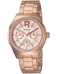Reebok RC-CDD-L5-S3S3-33 - Reloj de cuarzo para mujer, correa de acero inoxidable chapado en oro rosa color oro rosa