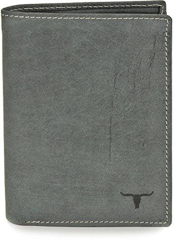 URBAN FOREST, Cntmp, Leder, Geldbörse, Portemonnaie, Börse, Brieftasche, Hochformat, Natur-Leder, 9,5x12,5x2cm (B x H x T), Farbe:Schwarz