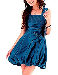 VIP Dress Satin Cocktailkleid / Tanzkleid / Ballonrock kurz in Blau und Weiß