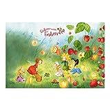 Vliestapete–Fensterbild Erdbeerinchen Erdbeerfee–Laternen–Wall Mural breit