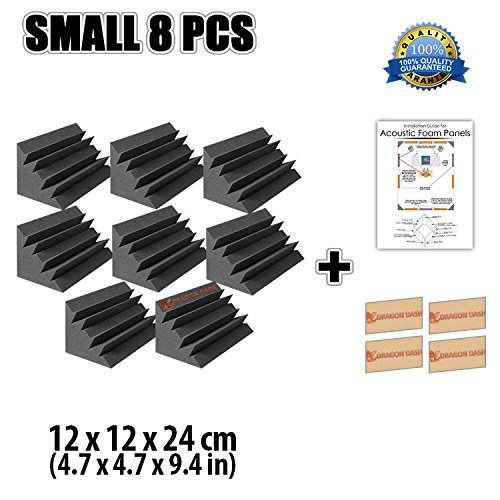 super-dash-8-unidades-de-12-x-12-x-24-cm-insonorizacion-negro-bass-trap-espuma-absorcion-aislamiento