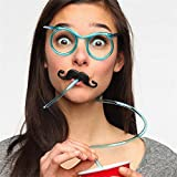 Generic Transparent : Hot! Funny Soft Plastic Straw Glasses Unique Flexible Drinking Tube Kids Party Bar Accessories