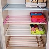 Home & Style DIY Verstellbarer, skalierbarer Garderobenschrank Regalböden Aufbewahrungsregal Kühlschrankfach TrennwandWeiß Länge 75-120CM, Breite 42CM