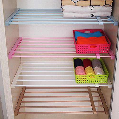 Home & Style DIY Verstellbarer skalierbarer Garderobenschrank Regale Ablagefach Kühlschrank Bücherregal FachteilerBraun Lang 50-80CM, Breite 42CM (Verstellbare Regale Bücherregal)