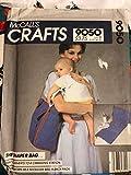 McCalls Crafts 9050 Schnittmuster Vintage Die Wickeltasche verwandelt sich in eine Wickelstation - kann als Schultertasche oder Rucksack getragen werden.
