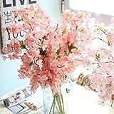 Mitlfuny Unechte Blumen, Künstliche Fälschung Kirschenblüte Seidenblume Bridal Hortensie Home Gartendekor Braut Hochzeitsblumenstrauß für Haus Garten Party Blumenschmuck (D)
