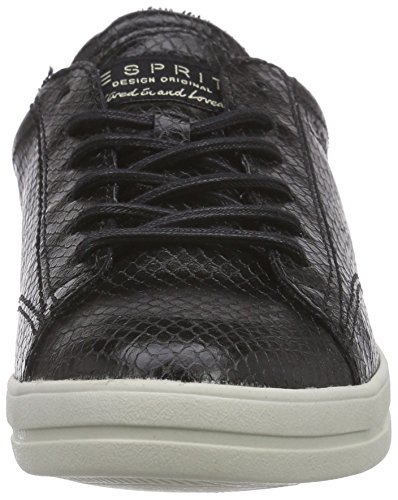 Esprit Mega Lace Up, Baskets Basses femme Noir - Schwarz (001 black)
