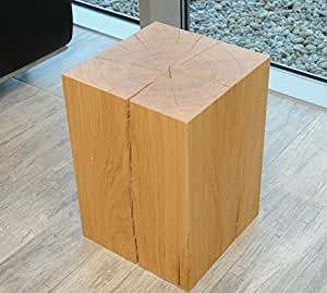 Design sitzblock sitzhocker hocker cube sitzw rfel for Holzklotz beistelltisch