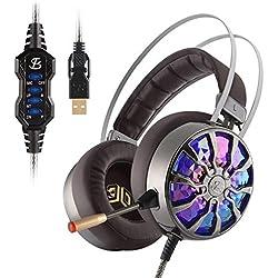 Mueka - Auriculares gaming estereo con micrófono - PS4, Nintendo, Xbox, Wii, PC