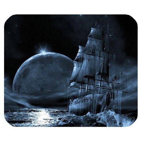 Funny Nautisches Vintage Pirat Schiff Thema Rutschfest Gummi Mauspad Gaming Maus Pad Matte 25x 20cm