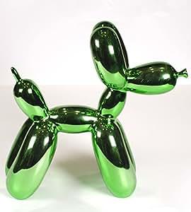6in. Verde metallizzato finitura balloon Dog Animal Art scultura