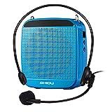 Amplificatore vocale SHIDU SD-S512 (18W) con batteria al litio da 1200mAh e microfono cablato per insegnanti, guide turistiche, istruttore di yoga e altro ( Blu/Wired )