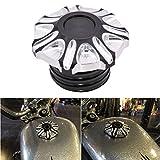 TUINCYN Moto Bouchon du réservoir de carburant en aluminium CNC de premiers travaux manuels au gaz Bouchon d'huile Coque pour Harley Sportster Davidson 883r 883l 48