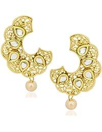 Meenaz Jewellery Gold Plated Pearl Jhumka Earring Ear Rings For Girls Women Earring Necklace Jewellery Jhumki-J116