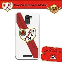 Funda Gel Flexible Rayo Vallecano para Bq Aquaris U Plus, Carcasa TPU, protege y se adapta a la perfección a tu Smartphone. Licencia oficial Rayo Vallecano - Escudo2