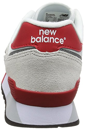 New Balance 446 80s Running, Écharpe Ginnastica Basse Unisexe-adulto Multicolore (gris Clair / Rouge)
