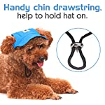 Pawaboo Dog Baseball Cap, Adjustable Dog Outdoor Sport Sun Protection Baseball Hat Cap Visor Sunbonnet Outfit with Ear… 12