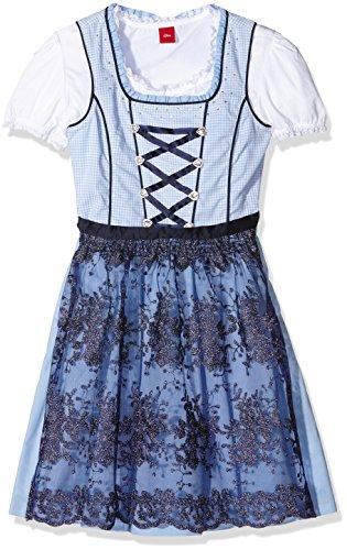s.Oliver Mädchen Kleid 60.607.82.2483, Blau (Light Blue Aop 53N0), 134