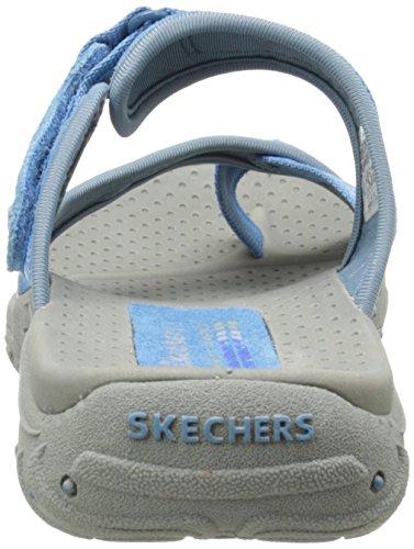 Skechers Reggae-Zig Swag, Infradito Donna Light Blue