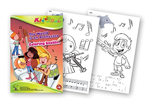 QuackDuck Malbuch The World is an Orchestra - Die Welt ist ein Orchester - Coloring booklet -...