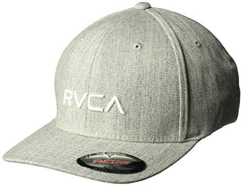 RVCA Herren Flex FIT HAT Baseball Cap, Hellgrau (Light Grey Heather), Small/Medium - Baseball Rvca