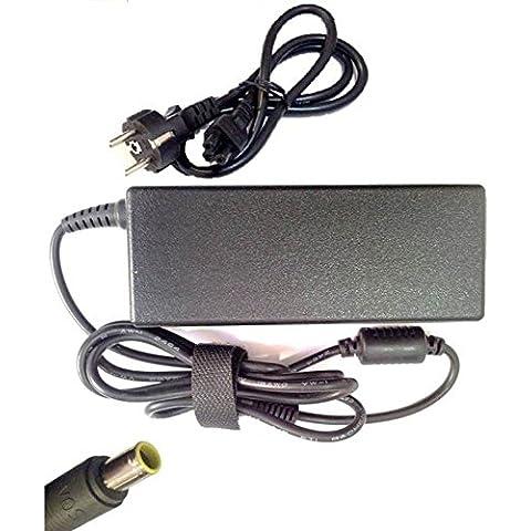CABLE + CARGADOR 20V 4.5A IBM T60 T60P T61 T61P T62 T400 T400s T410