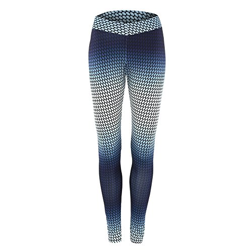 BOBORA Donna stampato Yoga in esecuzione sport pantaloni palestra Fitness Leggings elasticizzati