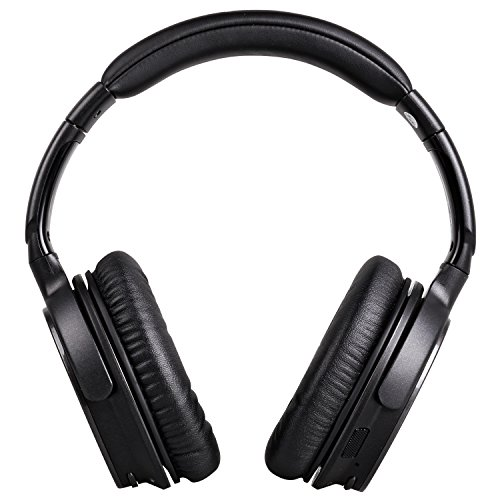 Auriculares Bluetooth 4.1, Mixcder® ShareMe Pro Auriculares Over-Ear con Micro USB, Cascos de Diadema Plegables y Larga Duración de la Batería, Audífonos Inalámbricos con Micrófono Reducción de Ruido Pasivo para iPhone 7,7 Plus,6s,6 Plus,6s Plus, 5, 5C, 5S, 4S,Xiaomi,Huawei,Tablet, Ect. - Negro