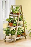 #4: Sharpex A-Frame Solid Wood Garden Planter Shelf / Garden Plant Stand