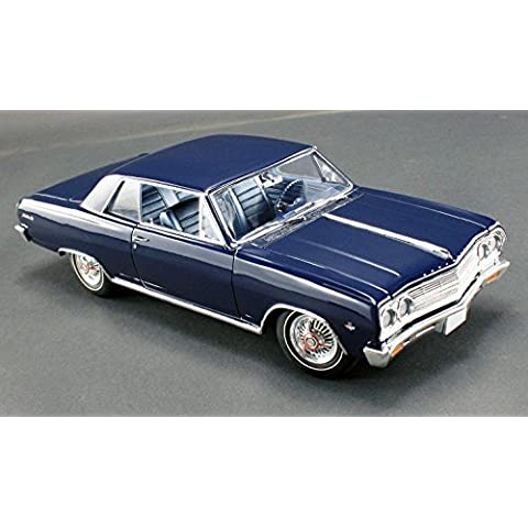 1965 Chevrolet Chevelle Malibu SS L79 Danube Blue Limited to 558pc 1/18 by Acme A1805302 by Acme - 1965 Chevrolet Chevelle