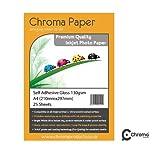 Chroma Ramette de 25 feuilles de papier photo adhésif 130g/m² Format A4