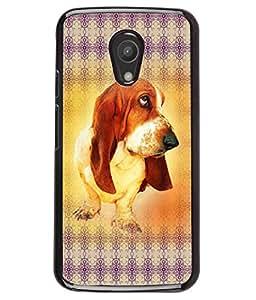 PRINTVISA The Dog Premium Metallic Insert Back Case Cover for Motorola Moto G2 - D6023