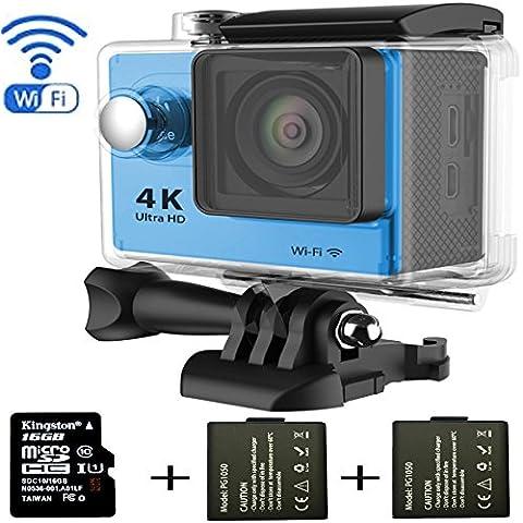 y-blue Surf Fotocamera WiFi subacquea HD 1080P