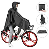 Andake High Waterproof Cycling Rain Poncho PU 8000 MM, Adjustable Neckline Bike Raincoat With Bicycle Hand Straps, Tear-resistant Fabric With Reflective Tape, Suitable for Riding, Camping, Fishing And