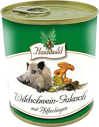 Wildschwein-Gulasch mit Pfifferlingen 300g I Heidewild