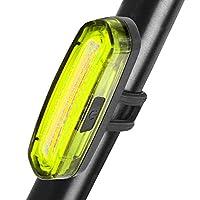 Uiter Waterproof USB Rechargeable Bike Light(Yellow)