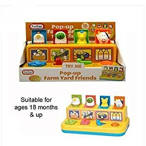 Great Gift ! Pop Up Farm Yard Friends Baby & Toddler Farmyard Animals Activity / Baby Toy Game Play Infant Toddler Kids Child Boys Girls Cool Unique Special Activity Educational Learning Smart Development Intelligence Motoric Friends Present Outdoor Indoor Room Developmental Good Pull Preschool Popular Fun Funny Unusual Classic Newborn Equipment Push Education Items Gear Playing Easy