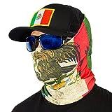SA Fishing Face shield - passamontagna/scaldacollo multifunzionale a tubo, in tessuto & SPF 40, 40+ design disponibili, Messico