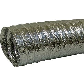 Aluflexrohr Alurohr Flexrohr Luft Schlauch Rohr Flexschlauch flexibel stabil (Aluflexrohr 10m / 8