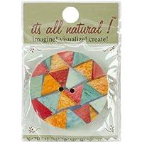 Vision 5.08 cm ornamenti rotonde in un triangolo e 1 tasto lettera disegno fatto a mano