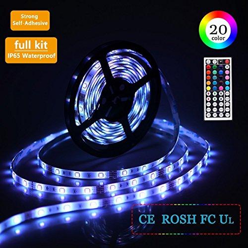 LED Strip 5m 150LEDs 5050SMD RGB LED Band Full Kit mit Fernbedienung und Netzteil