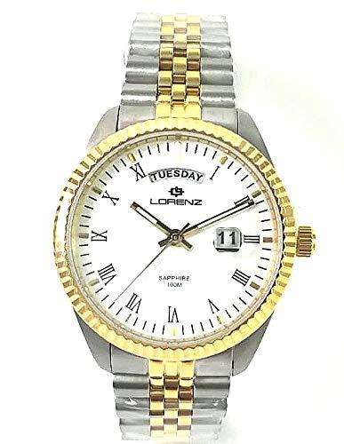 Orologio Lorenz Ginevra uomo 030119BB cinturino jubilee bicolore