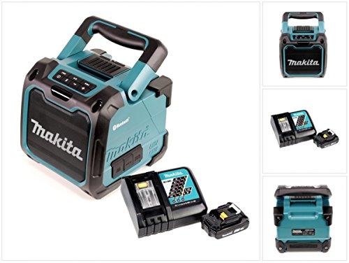 Preisvergleich Produktbild Makita DMR 200 10,8 - 18 V Baustellen Lautsprecher Grün Bluetooth + 1x BL 1820 18V - 2Ah Akku + 1x DC 18 RC Schnellladegerät