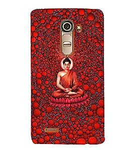 Takkloo Mahatma budha ( God of Hindu, meditation, Divine of god, Red background) Printed Designer Back Case Cover for LG G4 Mini :: LG G4c :: LG G4c H525N