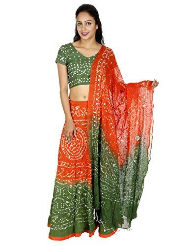 Rajrang Latest Designs Pailletten Arbeit Baumwolle Cambric Ethnische Lehenga Choli (Baumwolle Choli)