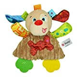 JiaMeng Beißring Papier klingeln, um Puppe zu beschwichtigen, Baby Infant niedlichen Plüsch Spielzeug Komfort Handtuch mit Ton Papier und Beißring ruhig Puppe