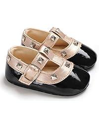 Zapatos de niños, Calzados/Zapatillas/Sandalias de niños Zapatos de bebé para niños pequeños Suela Blanda de Moda Remache con Gancho Zapatos de Princesa