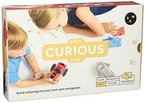 Sam Labs Curious Cars Kit | Stem und Steam Programmieren für Kinder ab 7 Jahre | Wireless mit App | Lego Kompatibel