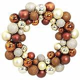 Ouneed Christbaumschmuck Kugeln , Weihnachten 55 Bälle Kranz Tür Wand Ornament Girlande Weihnachtsbaum Jubiläum Hochzeit Dekoration (Kaffee)